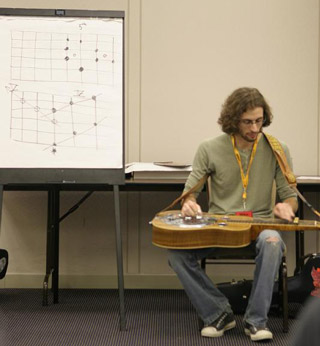 Michael Witcher, teaching either fretboard or football