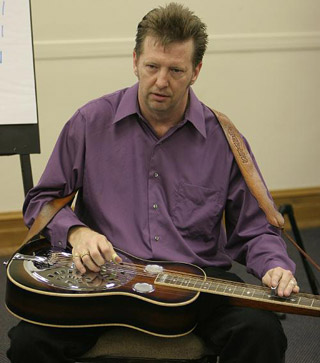 "Tim Graves teaches dobro ""Uncle Josh"" style."