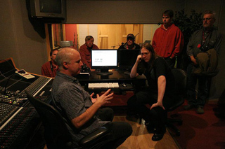 Ben Surratt, recording engineer, teaches a workshop at OMNISound Studios